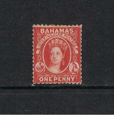Bahamas- Victoria 1863- Crown CC  SG 24  One Penny Red -  Mint  L/H