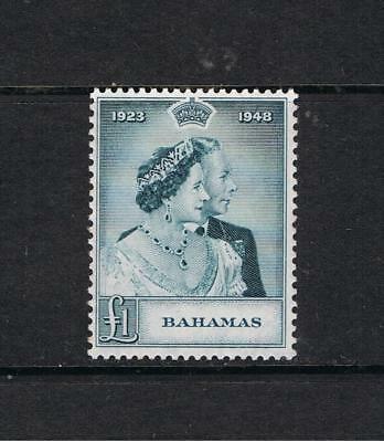 Bahamas- George V1 1948 Silver Wedding - SG 195 £1 Slate Green-Mint Never Hinged