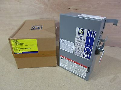 New In Box Square D PQ3606G Fusible Bus Plug 60 Amp 3 Phase 600 Volt 3 Wire