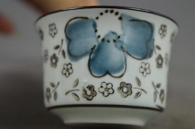 Collection Handmade Deco Porcelain Painting Beauty Flower Auspicious Lucky Cup