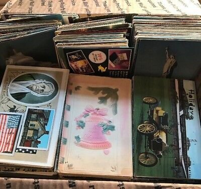 Huge Mixed Lot Of 1000+ Antique And Vintage Postcards 1900s-1970s.