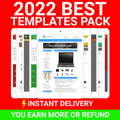 Ebay Template Listing Auction Professional Responsive mobile design html 2018