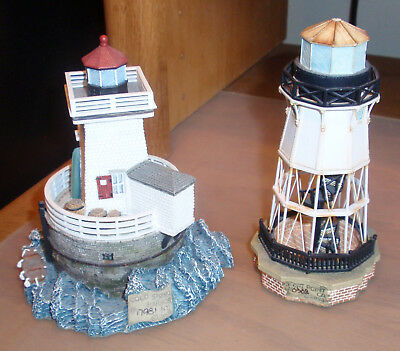 2 Harbour Lights Society Exclusive Lighthouses #533 Cold Spring & #541 Ft. Point