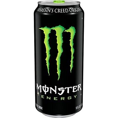 Monster Energy, Original Flavor Drink, 16 Ounce (Pack of 24)