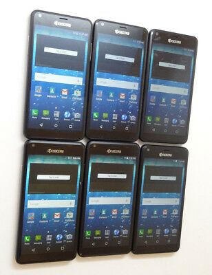 Lot of 6 Kyocera Hydro View C6742 Cricket Smartphones AS-IS GSM !