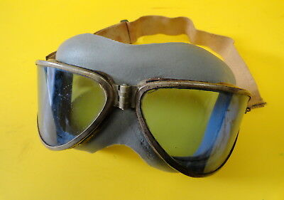 Vintage Seesall Flying Goggles W/blue Hb Rocket Lenses
