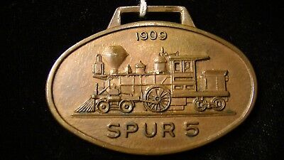 RARE EARLY 1900'S Stanley, Merrill & Phillips Railway Advertising FOB, Wisconsin