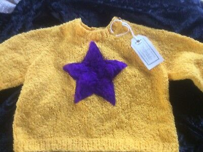 Handknitted Yellow Jumper Kids Size 1-New