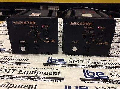 Hakko 470B Desoldering/Vacuum Station Lot of (2)