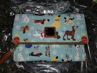 Disney Dooney & Bourke Dogs foldover zip crossbody bag purse