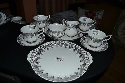 Royal Albert 25th Aniversary Tea set for 4