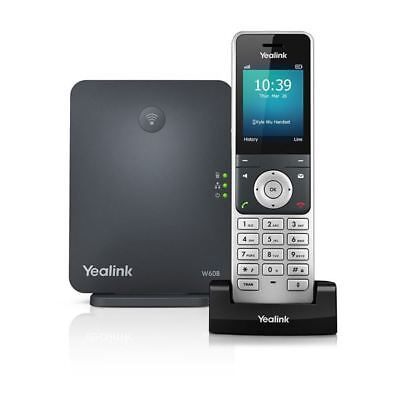 Yealink W60P 8 Line DECT HD IP Cordless Color Phone w Base Station