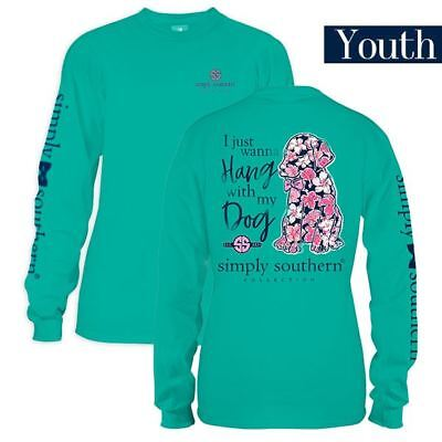 Youth Just Wanna Hang w My Dog Long Sleeve Simply Southern Tee