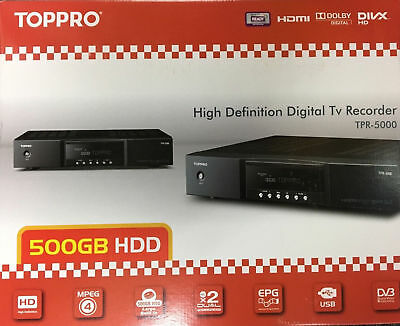 TOPPRO by TOPFIELD TPR-5000 / 500GB PVR Digital TV QUAD Recorder