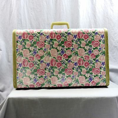1950s Samsonite Suitcase #4521 Travel Case Carry On Luggage Floral Shell Vintage