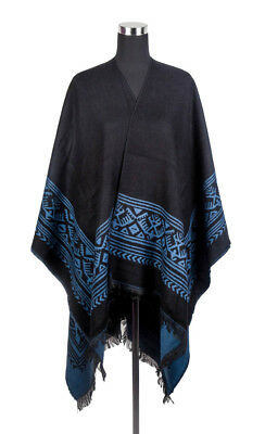 Women's Winter Classic Cashmere Knitted Poncho Capes Cardigans Shawl Coat
