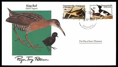 Mayfairstamps DOMINICA FDC KING RAIL BIRDS COMBINATION 1985 ROGER TORY PETERSON