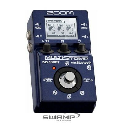 Zoom MS100BT MultiStomp Guitar FX Pedal with Bluetooth