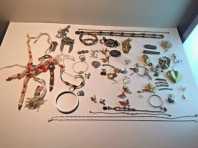LARGE LOT of Mixed Various Jewelry Pieces Vintage/Antique/Mod