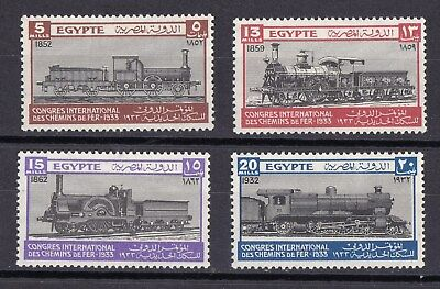 Kingscrossing - Egypt stamps # 168 - 171.  MHOG VVF  Trains, topicals CV $90