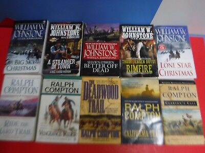 Lot Of 10  William W Johnstone And Ralph Compton Western Novels