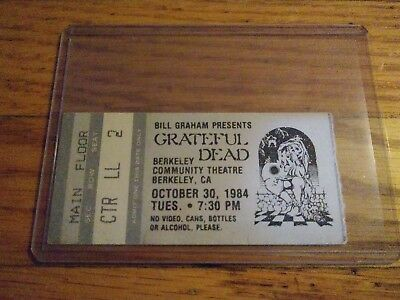 Grateful Dead Ticket Stub, Berkeley Community Theatre, 10/30/1984, Berkeley , CA