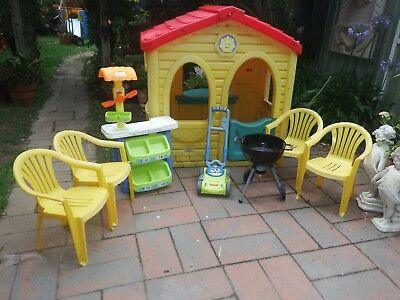 Step 2 Plastic Kids Cubby House Chairs Kitchen  Good Condition
