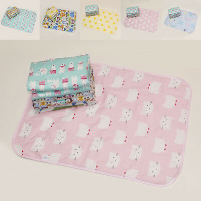 Baby Cotton 30*45CM Urine Mat Cover Burp Changing Pad Cartoon EVA Waterproof