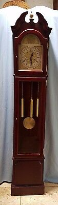 Reproduction Grandfather Long Case Clock with Genuine Antique Finial