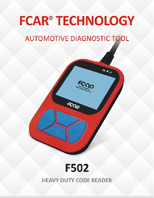 Fcar F502 Heavy Duty Truck, Earthmoving, Tractor And Bus Scantool Obdii Ex Demo