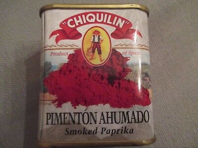 Chiquilin Smoked Paprika spice (pimenton ahumado) 2.64oz tin never used exp 9/20