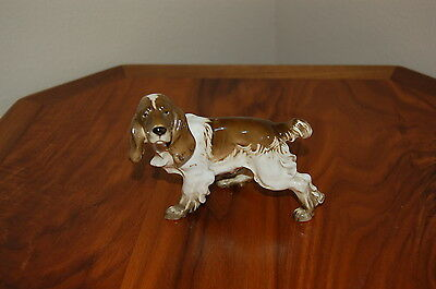 Vintage Hutschenreuther English Setter/Cocker Spaniel Dog Figurine Excellent