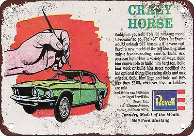 "7"" x 10"" Metal Sign - 1969 Mustang Revell Model of the Month - Vintage Look Repr"