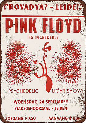 "7"" x 10"" Metal Sign - 1969 Pink Floyd in the Netherlands - Vintage Look Reproduc"