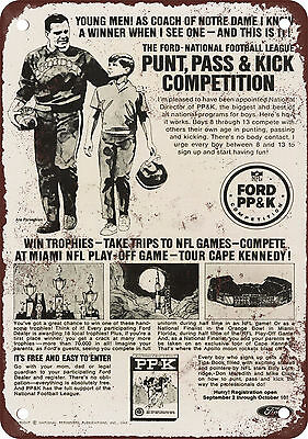 "7"" x 10"" Metal Sign - 1969 Punt, Pass & Kick Competition - Vintage Look Reproduc"