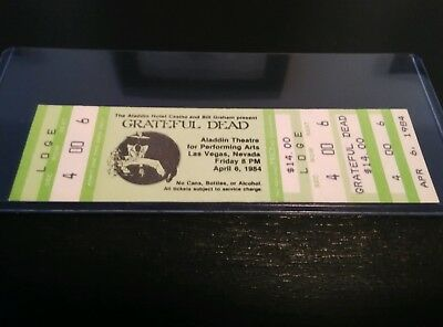 Grateful Dead, Concert Ticket Stub, 04/06/1984, Rare, Unused Mail Order, Aladdin
