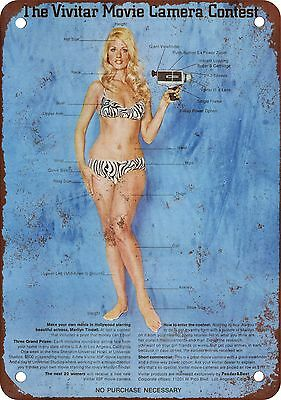 "7"" x 10"" Metal Sign - 1969 Vivitar Movie Cameras Movie Cameras - Vintage Look Re"