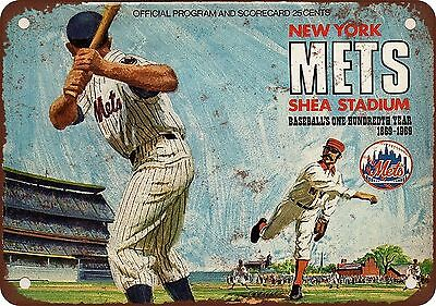 "7"" x 10"" Metal Sign - 1969 World Series New York Mets - Vintage Look Reproductio"