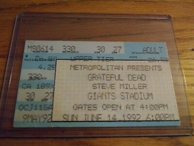 Grateful Dead, Steve Miller Band, Ticket Stub, 06/14/1992, Giants Stadium