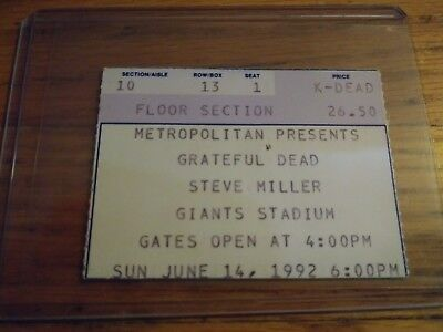 Grateful Dead & Steve Miller, Ticket Stub, 06/14/1992, Giants Stadium