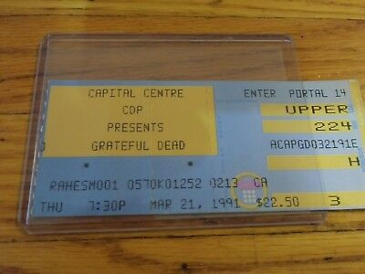 Grateful Dead Ticket Stub, 03/21/1991, Capital Centre