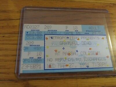 Grateful Dead Ticket Stub, 03/27/1991, Nassau Coliseum, Uniondale