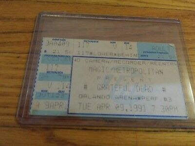 Grateful Dead Ticket Stub, 04/09/1991, Orlando Arena