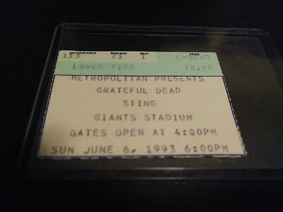 Grateful Dead , Sting, Ticket Stub, Giants, 06/06/1993