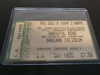 Grateful Dead Ticket Stub, Oakland Coliseum, 12/09/1994