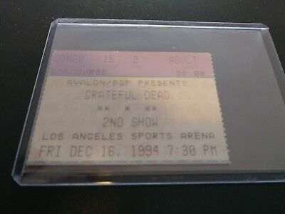 Grateful Dead Ticket Stub, L.A. Sports Arena, 12/16/1994