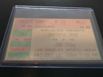 Grateful Dead Ticket Stub, L.A Sports Arena, 12/16/1994