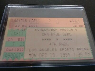 Grateful Dead Ticket Stub, L.A. Sports Arena, 12/19/1994