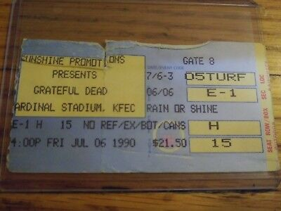 Grateful Dead, Ticket, Cardinal Stadium, 07/06/1990,