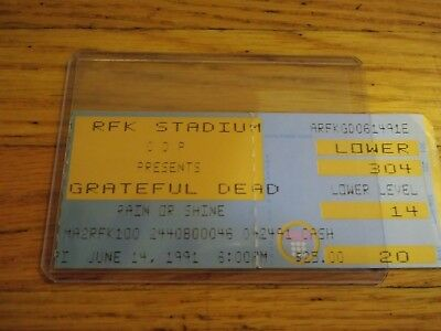Grateful Dead Concert Ticket Stub, 06/14/1991, RFK